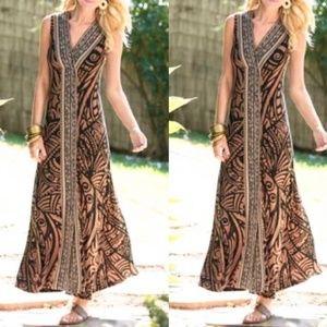Soft Surroundings Serengeti Animal Print Dress M